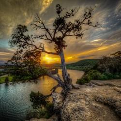テキサス州、オースティンの夕日